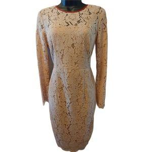 Boden Lace Midi Dress Blush 4